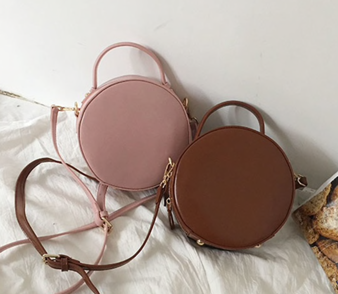 Round Strap Leather Bag