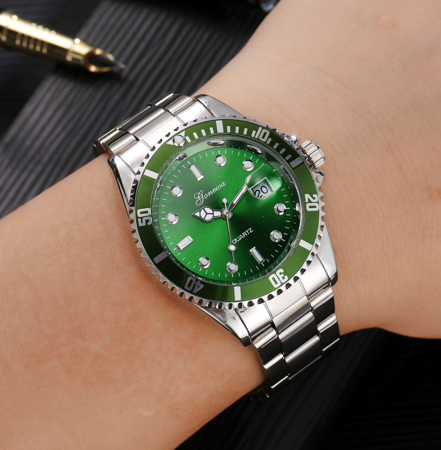 Colored Display Steel Watch