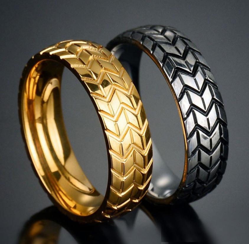 Wedding Band Biker Ring
