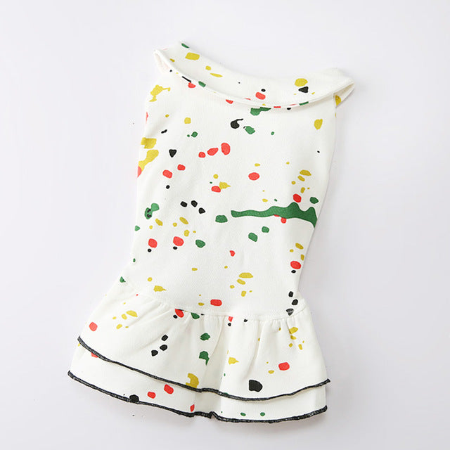Spring & Autumn Pet Graffiti Dress