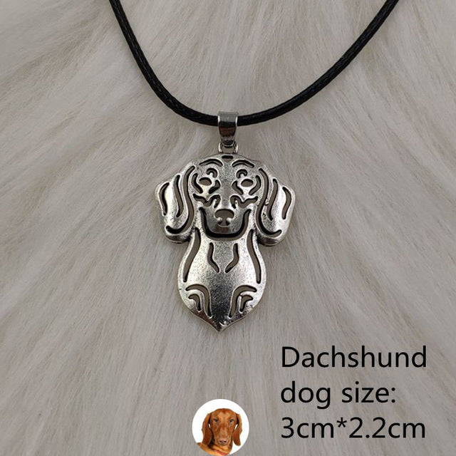 Dog Antique Silver Pendant{VIP Gift}