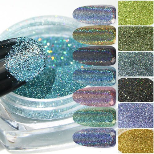 Holographic Nails Powder{VIP Gift}