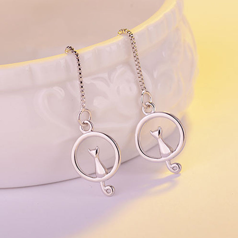 Cat on Moon Earrings{VIP Gift}