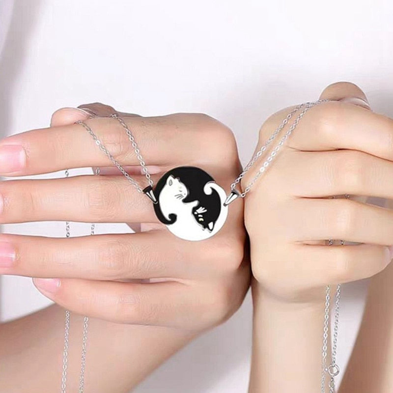 Cat Couple Necklace{Vip Gift}