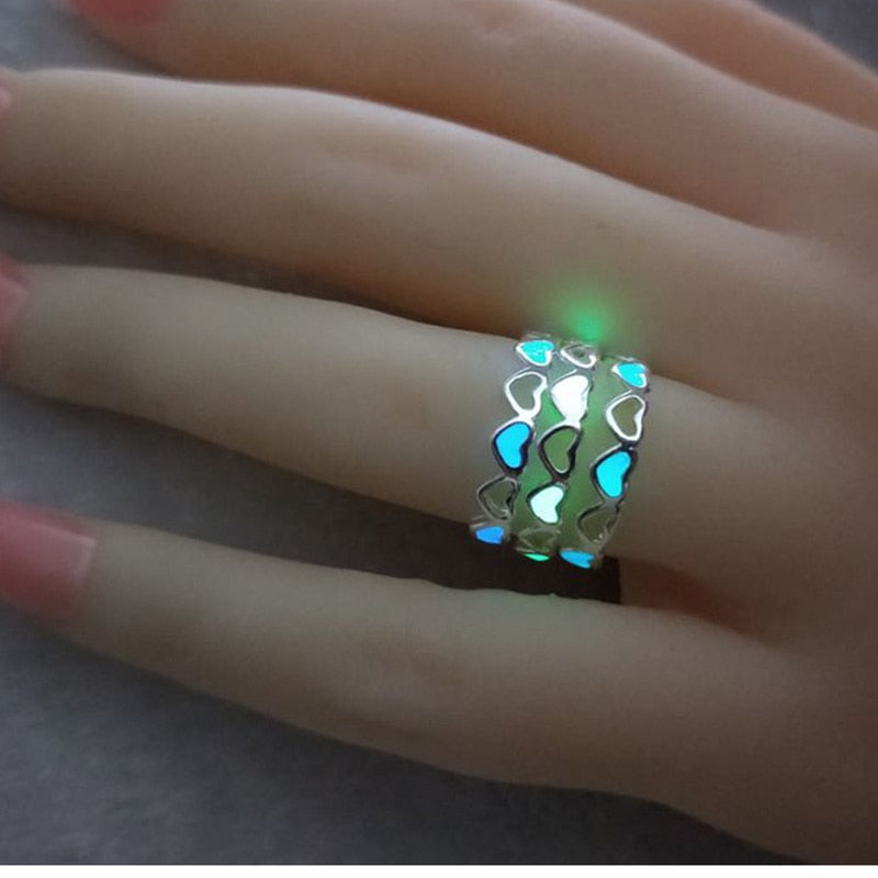 Heart Shape Luminous Ring{VIP Gift}