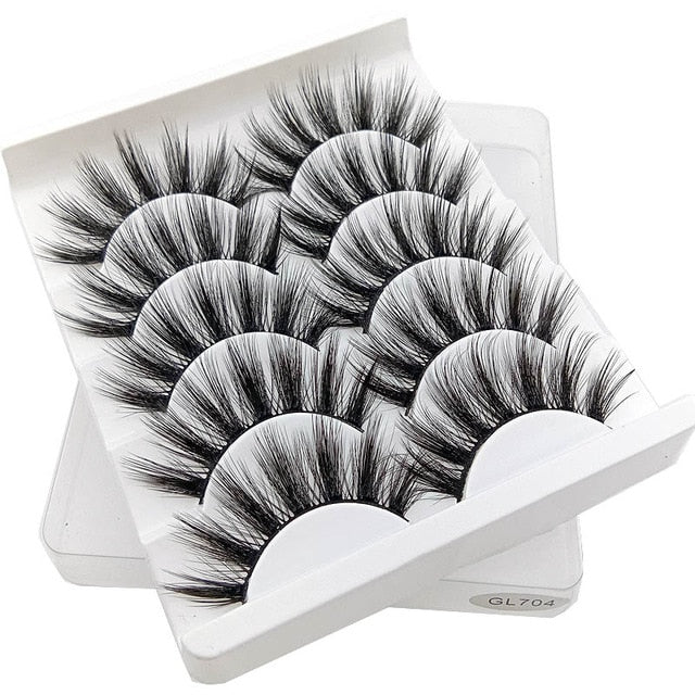 5 Pair 3D Mink Hair Eyelashes{VIP Gift}