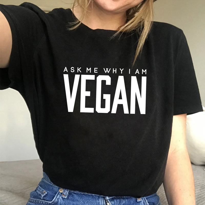Ask Me Why I Am Vegan T-Shirt