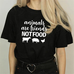 Vegan T-Shirt Animals are friends, Not Food