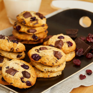 Banana Yogurt, Chocolate & Cranberry Cookies