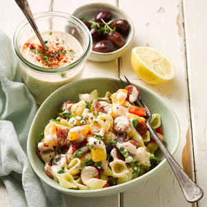 Pasta Salad with Smoked Paprika & Herb Dressing
