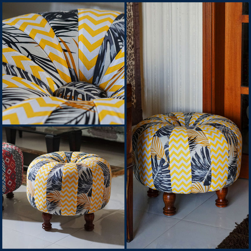colorful havannah ottoman used in pakistani house entrance, SKU is OT2