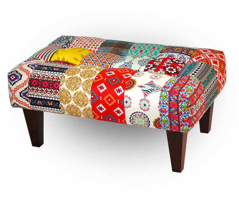 83x51x40cm Royal Indian 2-Seater Tufted Bench