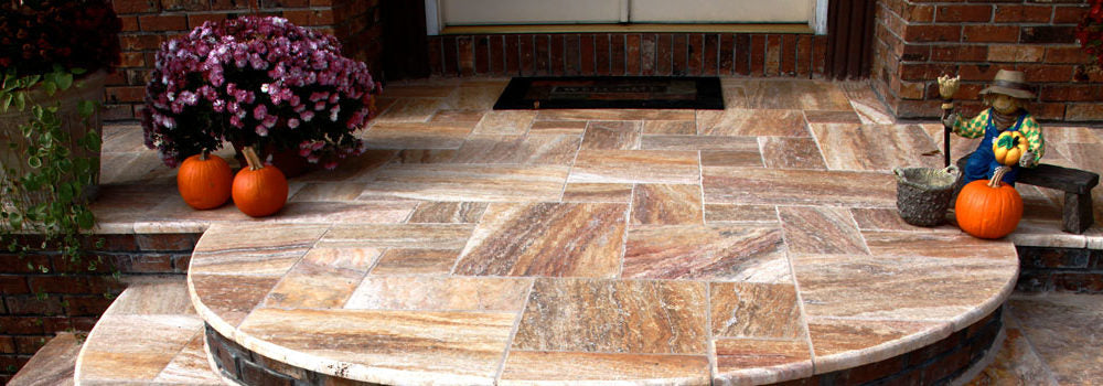 Travertine Pavers Colors and Patterns Guide 2016