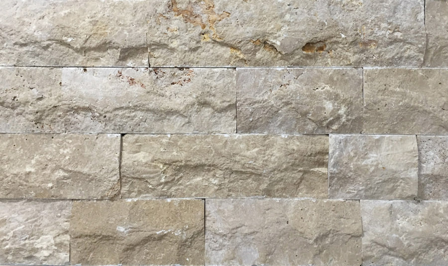 Travertine Ivory Split-Face Tile 4″ x Free Length