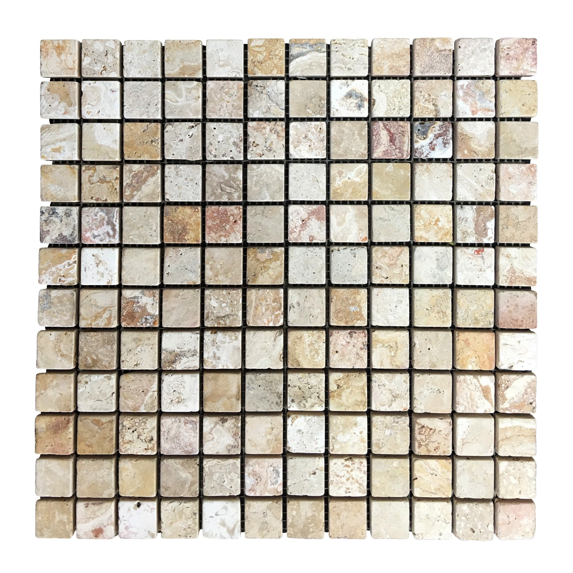 Travertine Leonardo Mosaic 1 x 1 Tiles