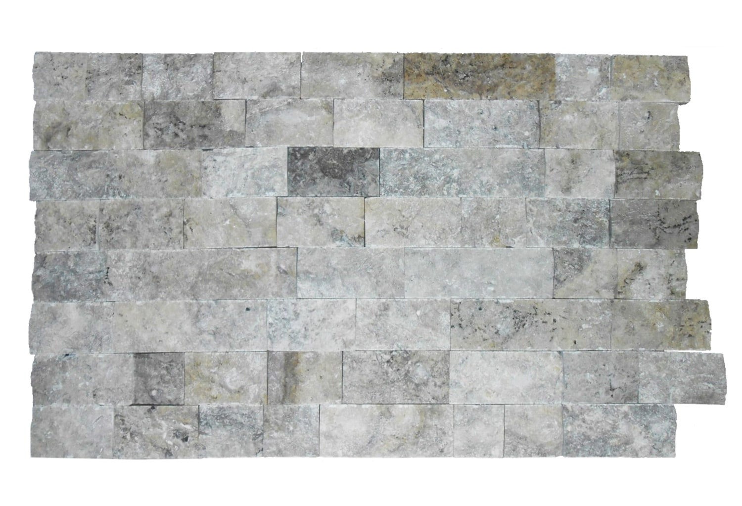 Travertine Silver Split-Face Tile 4″ x Free Length