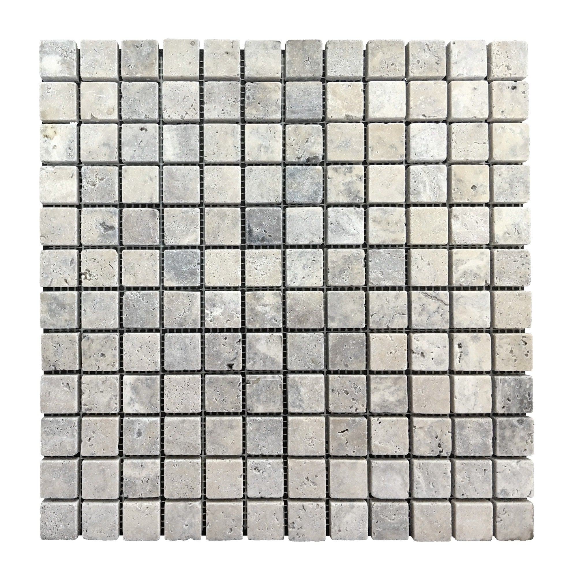Travertine Silver Mosaic 1″ x 1″ Tiles