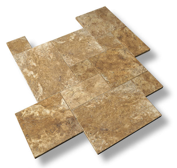 12 X 12 Gold Travertine Pavers
