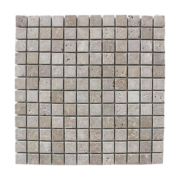 Noce Travertine Mosaic Tiles 1″ x 1″