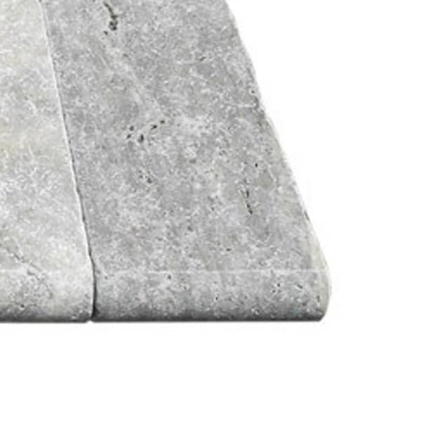Silver Travertine Bullnose