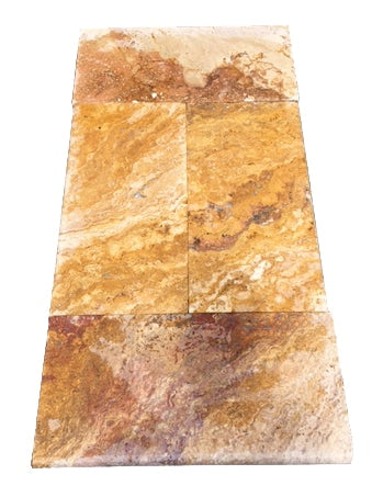 Autumn Blend Travertine Bullnose Pool Coping