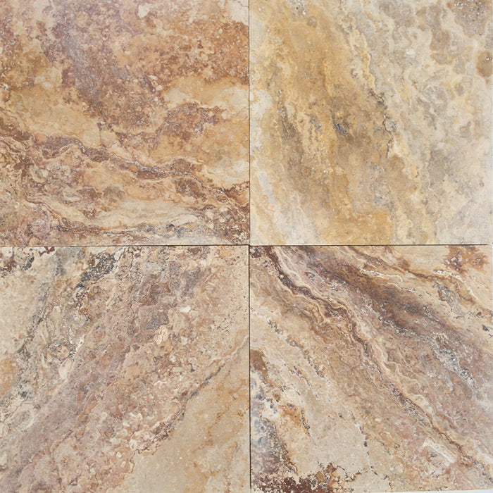 Autumn Blend Travertine 18x18 Tiles