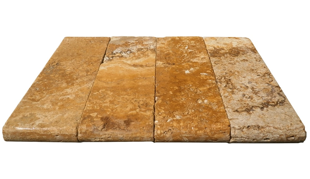 Gold Travertine Pool copings 4x12