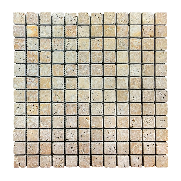 Travertine Gold Mosaic 1x1