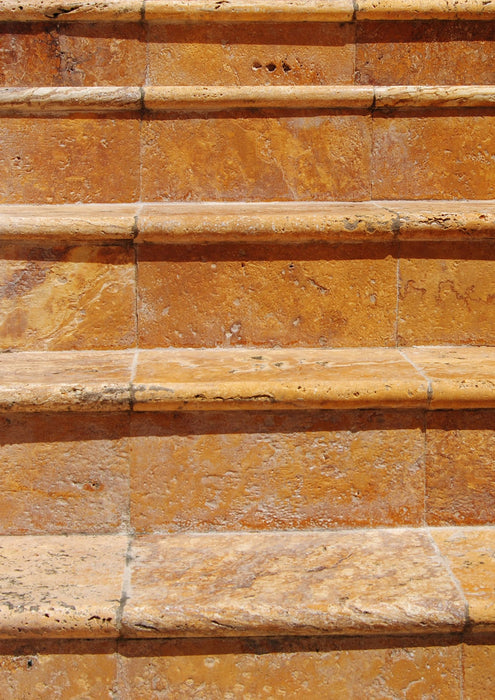 Gold Bullnose Pavers Outdoor Steps