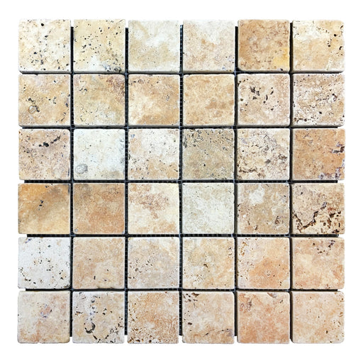 Gold Travertine Mosaics 2x2