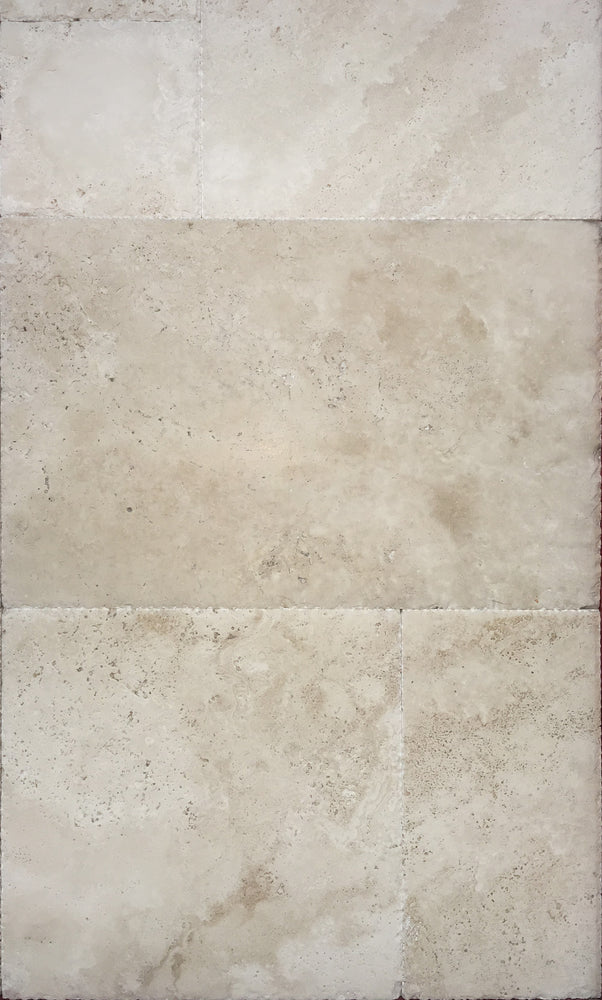Ivory French Pattern Travertine Tiles