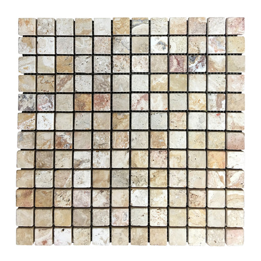 Leonardo Travertine 1x1 Moaic Square