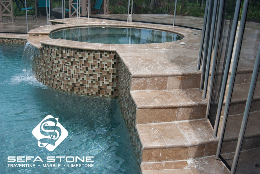 Noce Pool coping and pool steps