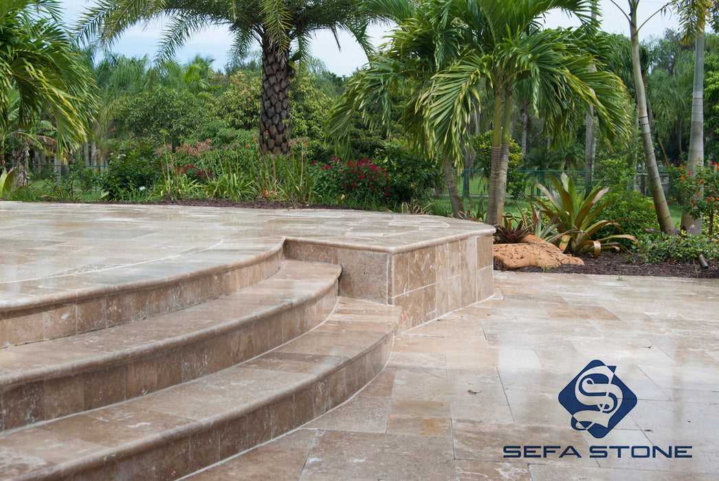 Noce Bullnose Copings Deck Steps