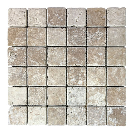 Travertine Noce Mosaic Tiles 2x2