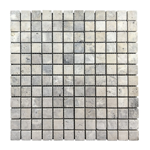 Travertine Silver 1x1 Mosaics