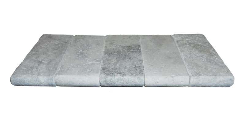Silver Travertine Bullnose Coping 4x9