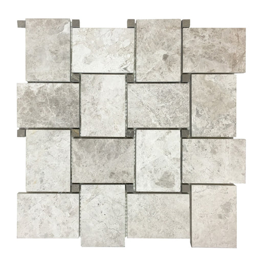 Mable Tundra Gray Basket Weave Mosaic