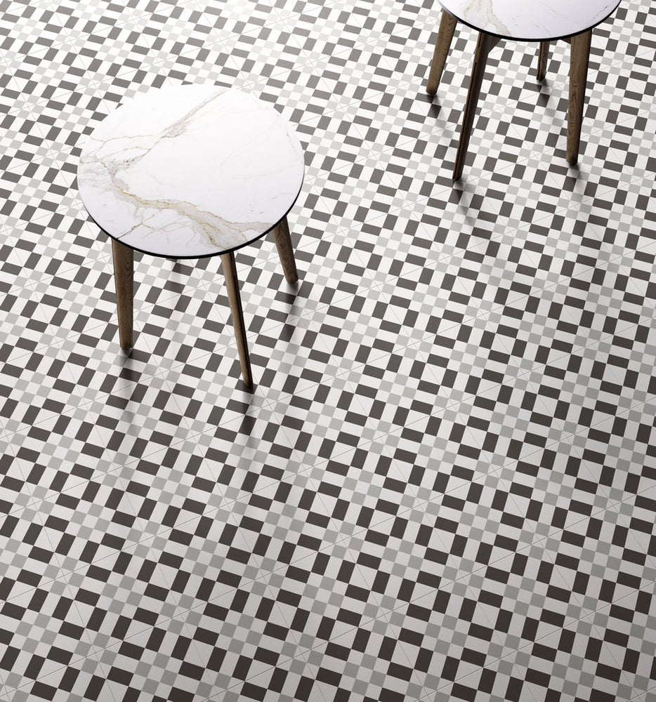 Black and White Porcelain Tile