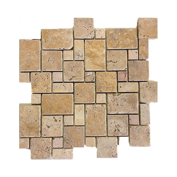 Travertine Gold Mini Pattern Mosaics