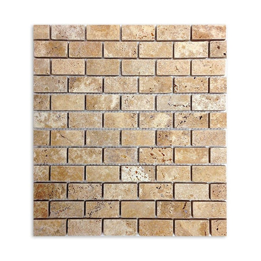 Travertine Gold Subway Tile Mosaics