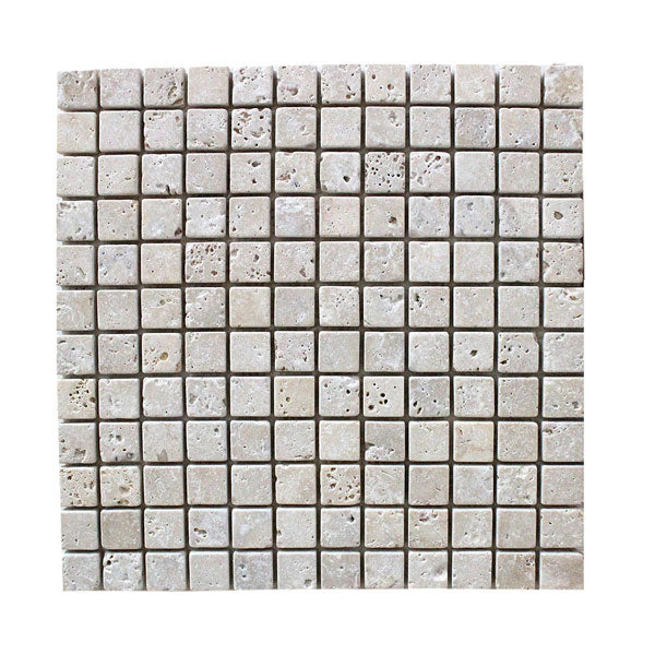 Travertine Ivory 1x1 Mosaic Tiles