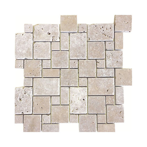 Travertine Noce Mini Pattern Mosaics