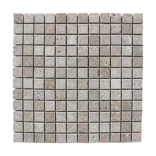 "Noce Travertine Mosaic Tiles 1"" x 1"""