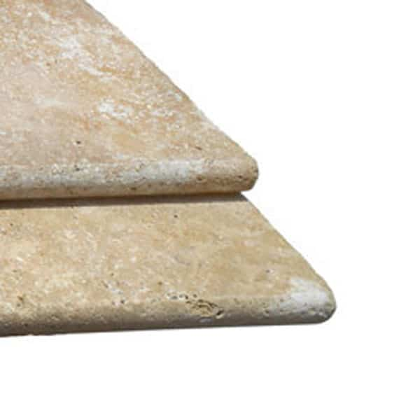 Noce Travertine Bullnose