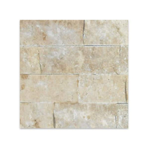 "Travertine Noce Split-Face Tile 4"" x Free Length"