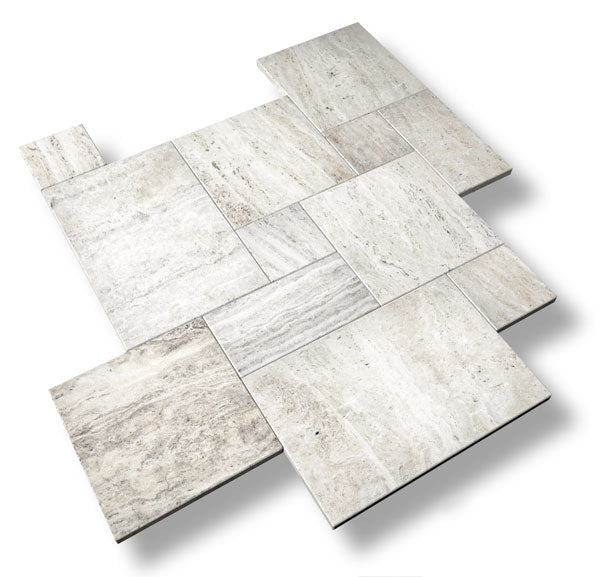 river silver travertine pavers