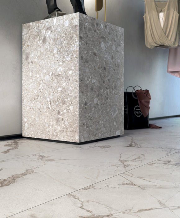 Invisible Polished Porcelain Tile