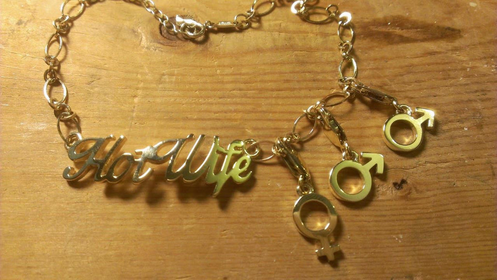 hotwife anklet and charms by carolyn nicole designs