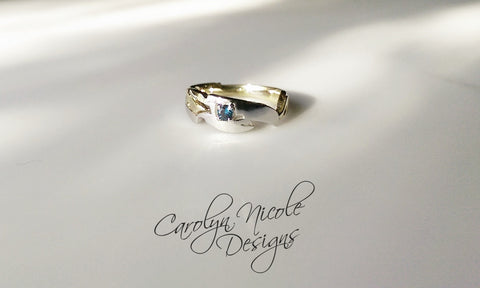 Sceptor Engagement Ring by Carolyn Nicole Designs